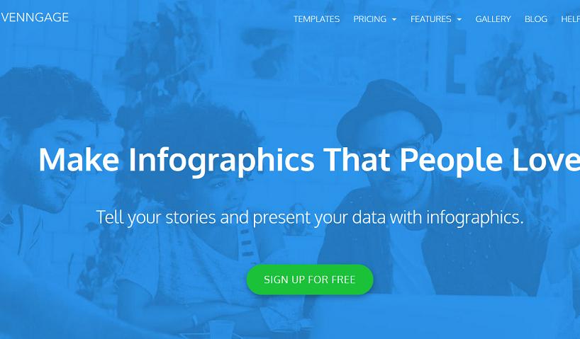 Mit Venngage kann man sehr flott ansprechende und auffallende Infografiken erstellen, die außerdem die Möglichkeit beinhalten, Social Reports anzufertigen. (#04)