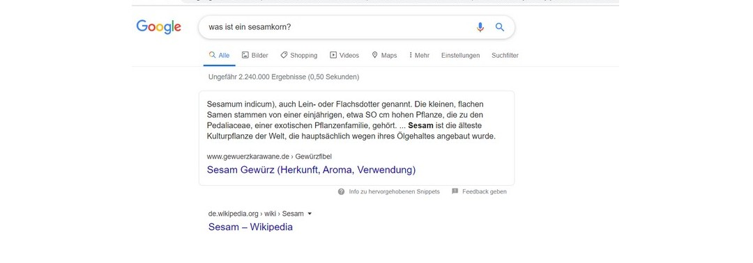 Featured Snippets Update von Google knickt die Position 0!