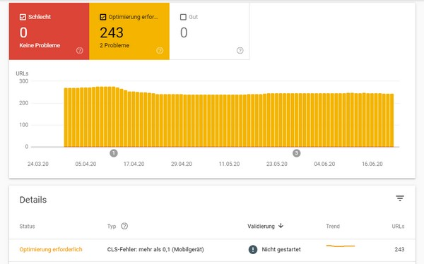 Ein transparenter Report in der Google Search Console (Webmaster Tools) liefert eine klare Ansage zu Verbesserungspotenzialen der Webseite.
