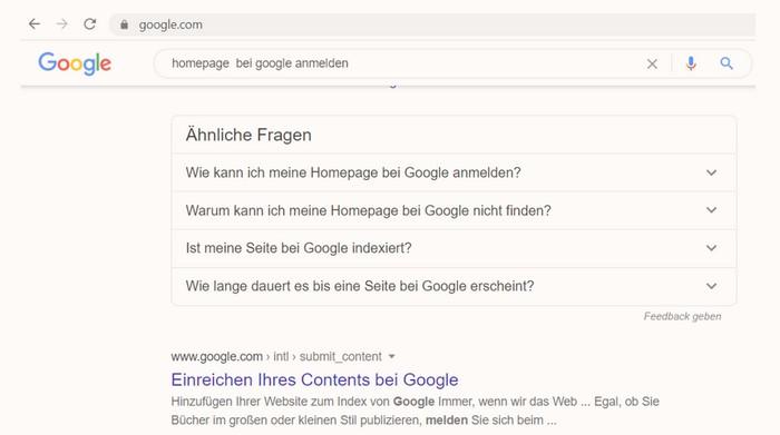"Infografik: ""Homepage bei Google anmelden"""